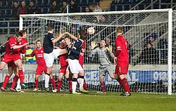 Falkirk's Stewart Murdoch scoring their goal..Falkirk 1 v 1 Raith Rovers, 5/3/2013.