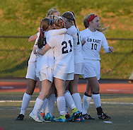 CB East celebrates the game winning goal in the second half of a playoff game Saturday November 14, 2015 in Souderton, Pennsylvania.  (Photo by William Thomas Cain)