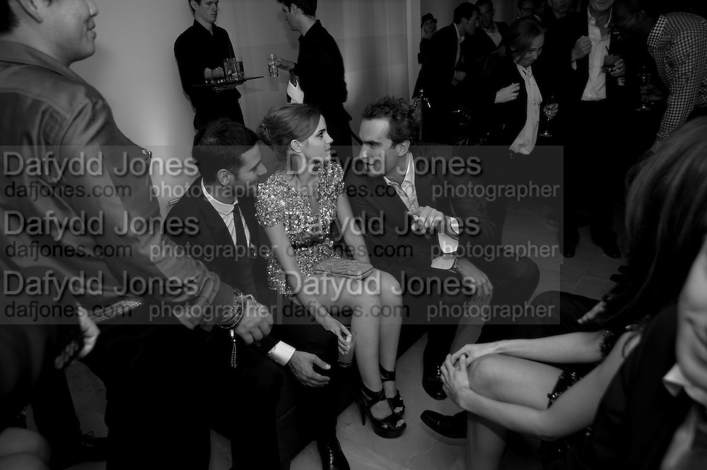 EMMA WATSON; FRITZ VON WESTENHOLZ, Afterparty for Burberry  Spring/Summer 2010 Show. Horseferry House. Horseferry Rd. London sW1.  London Fashion Week.  22 September 2009.