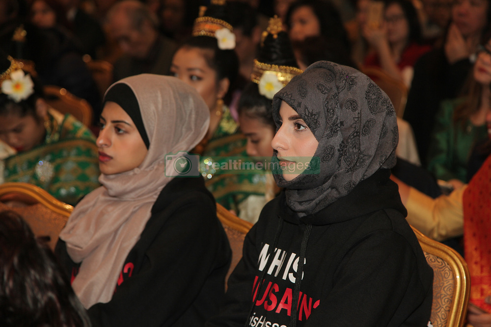 April 2, 2017 - Markham, ONTARIO, Canada - Muslim girls listen to speeches about diversity and acceptance during the International Day for the Elimination of Racial Discrimination in Markham, Ontario, Canada, on 2 April 2017. The York Regional Police hosted a cultural program to celebrate diversity and multiculturalism during the International Day for the Elimination of Racial Discrimination which is observed annually on March 21st. (Credit Image: © Creative Touch Imaging Ltd/NurPhoto via ZUMA Press)