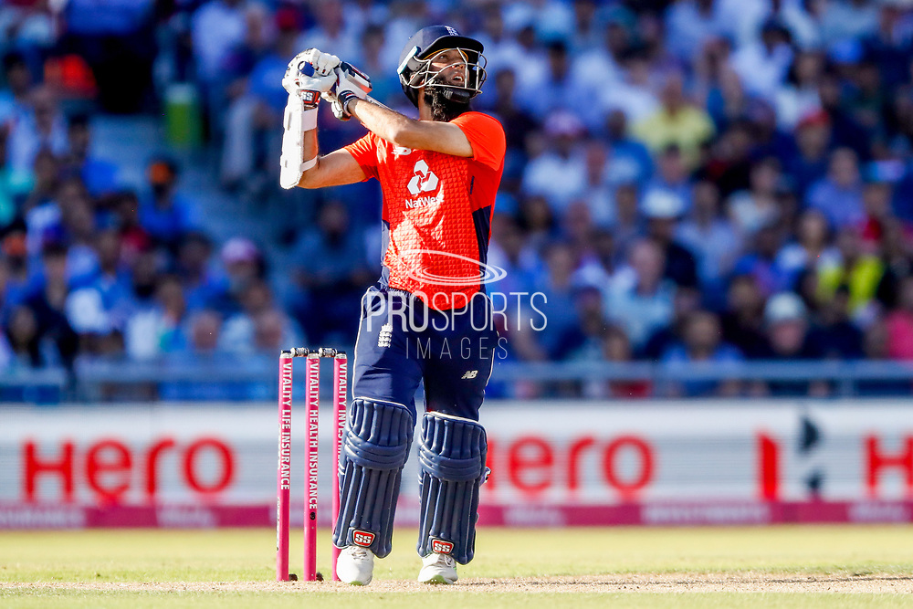 England T20 all rounder Moeen Ali is out caught during the International T20 match between England and India at Old Trafford, Manchester, England on 3 July 2018. Picture by Simon Davies.