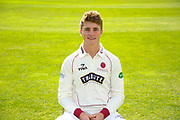 County Championship kit portrait of Tom Abell (captain) during the Somerset County Cricket Club PhotoCall 2017 at the Cooper Associates County Ground, Taunton, United Kingdom on 5 April 2017. Photo by Graham Hunt.