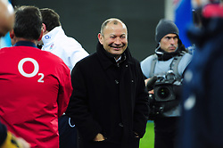 England Rugby Head Coach Eddie Jones is all smiles after the match - Mandatory byline: Patrick Khachfe/JMP - 07966 386802 - 19/03/2016 - RUGBY UNION - Stade de France - Paris, France - France v England - RBS Six Nations.