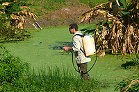Mosquito control spraying at the man made wetlands Green Cay Nature Area Delray Beach Florida USA