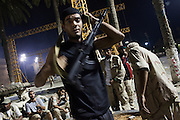 Rebels in Green Square the night after the rebels took the capital Tripoli from Qaddafi forces,