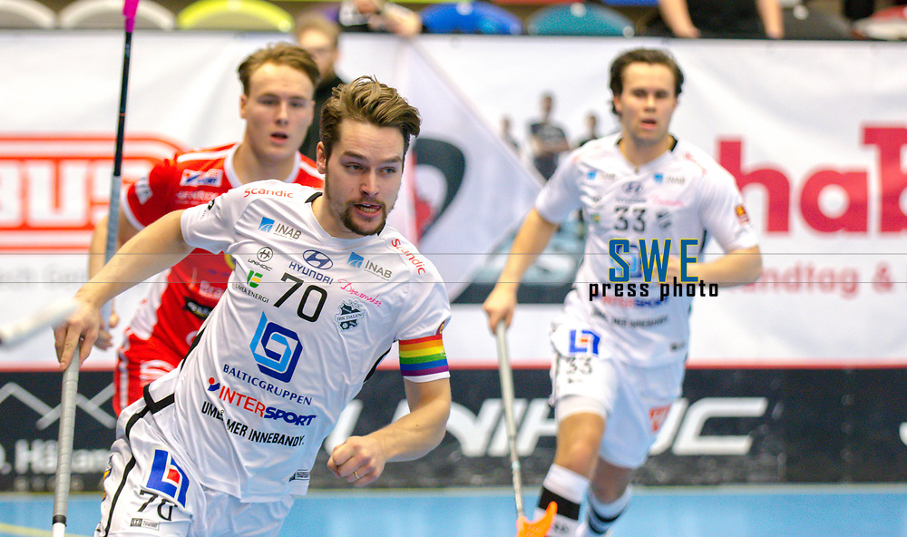 2018-03-10 | J&ouml;nk&ouml;ping, Sweden: IBK Dalen 70 Jonas Svahn during the game between J&ouml;nk&ouml;pings IK and IBK Dalen at Idrottshuset ( Photo by: Marcus Vilson | Swe Press Photo )<br /> <br /> Keywords: Idrottshuset, J&ouml;nk&ouml;ping, SSL, Floorball, J&ouml;nk&ouml;pings IK, IBK Dalen, Jonas Svahn