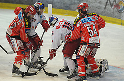 07.03.2010, Volksgarten, Salzburg, AUT, EBEL, EC Red Bull Salzburg vs EC KAC,  im Bild  Johannes KIRISITS, Brent AUBINL, Ryan DUNCAN und Andrew SCHNEIDER, EXPA Pictures © 2010, PhotoCredit: EXPA / M. Laux / SPORTIDA PHOTO AGENCY