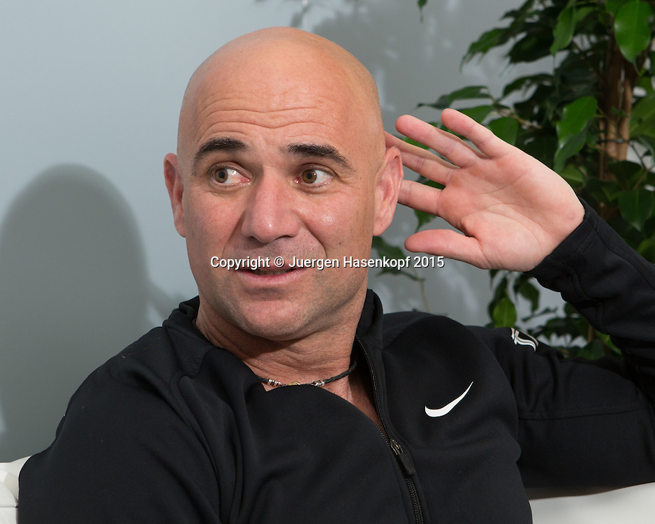 Andre Agassi (USA),Portrait,<br /> <br /> Tennis - Porsche Grand Prix - WTA -   - Stuttgart -  - Germany  - 20 April 2015. <br /> &copy; Juergen Hasenkopf