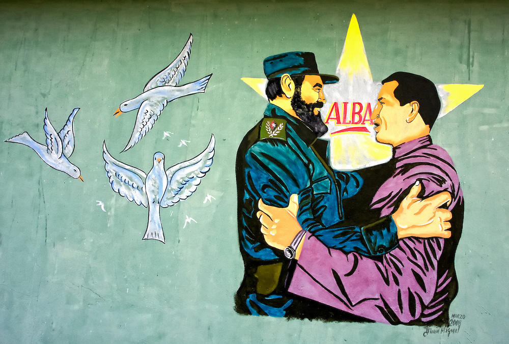 Fidel and Chavez in Horquita, Cienfuegos, Cuba.