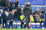 Arsenal Head Coach Mikel Arteta celebrates at full time during the Premier League match between Chelsea and Arsenal at Stamford Bridge, London, England on 21 January 2020.