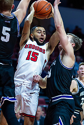 NORMAL, IL - October 23: Lijah Donnelly during a college basketball game between the ISU Redbirds and the Truman State Bulldogs on October 23 2019 at Redbird Arena in Normal, IL. (Photo by Alan Look)