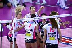 04-03-2017 ITA: Semifinal Coppa Italia Imoco Volley Conegliano - Igor Gorgonzola Novara, Firenze<br /> Team Novara met Laura Dijkema #14<br /> <br /> ***NETHERLANDS ONLY***