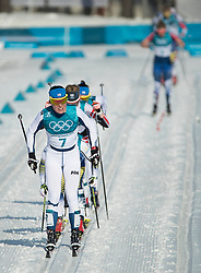 February 25, 2018 - Pyeongchang, South Korea - Krista Parmakoski of Finland compete during the Ladies Cross Country Skiing Mass Start 30k at the PyeongChang 2018 Winter Olympic Games at Alpensia Cross-Country Skiing Centre on Sunday February 25, 2018. .Krista Parmakoski of Finland won the silver medal in the event. (Credit Image: © Paul Kitagaki Jr. via ZUMA Wire)