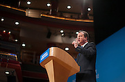 © Licensed to London News Pictures. 01/10/2014. Birmingham, UK David Cameron delivers his leaders speech at  The Conservative Party Conference in Birmingham 1st October 2014 2014. Photo credit : Stephen Simpson/LNP