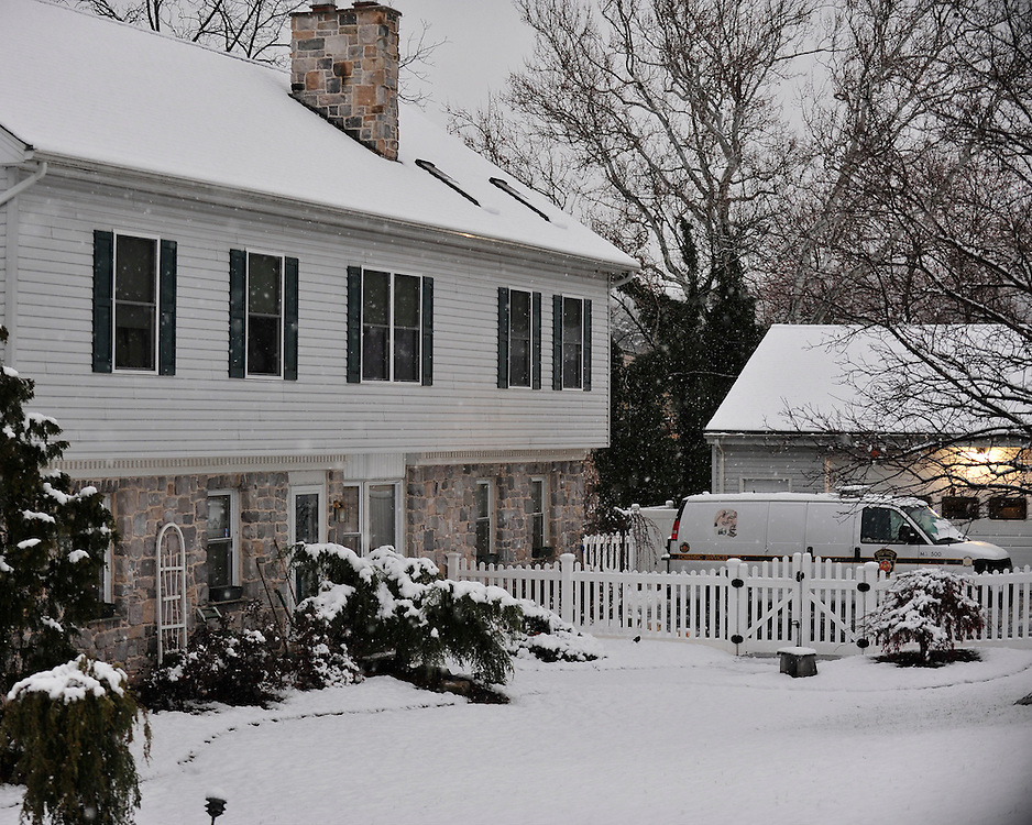 State Police investigate a home in the 400 block of Covered Bridge Road where the body of Jessica Padgett was found on November 26th, 2014, in Northampton.  (Chris Post   lehighvalleylive.com)
