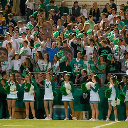 Newman student section cheers against St Thomas Aquinas at Newman, New Orleans LA on November 17, 2017.