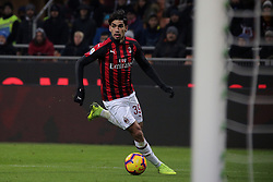 January 26, 2019 - Milan, Milan, Italy - Lucas Paqueta' #39 of AC Milan in action during the serie A match between AC Milan and SSC Napoli at Stadio Giuseppe Meazza on January 26, 2018 in Milan, Italy. (Credit Image: © Giuseppe Cottini/NurPhoto via ZUMA Press)