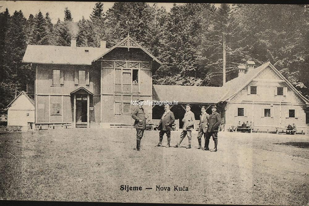 Sljeme : Nova kuća. <br /> <br /> ImpresumZagreb : Naklada Hrv. planinar. društva, [1914]. (Zagreb : Tisk. V. Novotni)<br /> Materijalni opis1 razglednica : tisak ; 9 x 13,9 cm.<br /> NakladnikHrvatsko planinarsko društvo (Zagreb)<br /> Mjesto izdavanjaZagreb<br /> Vrstavizualna građa • razglednice<br /> ZbirkaGrafička zbirka NSK • Zbirka razglednica<br /> Formatimage/jpeg<br /> PredmetMedvednica<br /> SignaturaRZG-SLJE-9<br /> Obuhvat(vremenski)20. stoljeće<br /> NapomenaRazglednica je putovala 1914. godine.<br /> PravaJavno dobro<br /> Identifikatori000954797<br /> NBN.HRNBN: urn:nbn:hr:238:747391 <br /> <br /> Izvor: Digitalne zbirke Nacionalne i sveučilišne knjižnice u Zagrebu