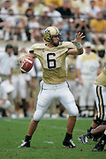 NASHVILLE, TN - SEPTEMBER 4: Jay Cutler #6 of the Vanderbilt Commodores looks to pass against the South Carolina Gamecocks on September 4, 2004 at Vanderbilt Stadium in Nashville, Tennessee. (Photo by Joe Robbins) *** Local Caption *** Jay Cutler