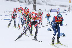 16.12.2017, Nordische Arena, Ramsau, AUT, FIS Weltcup Nordische Kombination, Langlauf, im Bild Lukas Klapfer (AUT), Startnummer 5, und andere Teilnehmer // Lukas Klapfer of Austria, BIB number 5, and other competitors during Cross Country Competition of FIS Nordic Combined World Cup, at the Nordic Arena in Ramsau, Austria on 2017/12/16. EXPA Pictures © 2017, PhotoCredit: EXPA/ Martin Huber