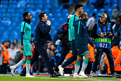 Tottenham Hotspur manager Mauricio Pochettino celebrates victory over Manchester City - Mandatory by-line: Robbie Stephenson/JMP - 17/04/2019 - FOOTBALL - Etihad Stadium - Manchester, England - Manchester City v Tottenham Hotspur - UEFA Champions League Quarter Final 2nd Leg