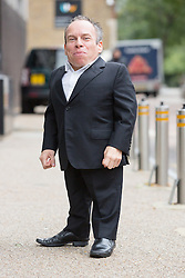 © Licensed to London News Pictures. 09/09/2015. London, UK. Warwick Davis arrives at the ITV Studios in London. Photo credit : Vickie Flores/LNP