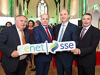 07/09/2017   Minister Denis Naughten  who announced a joint venture between enet and SSE which will roll-out super fast broadband to 115,000 premises in regional Ireland with from Left Eugene Murphy TD  Stephen Wheeler, MD SSE Ireland and Cllr  John Naughten Roscommon CoCo.<br />  Photo:Andrew Downes, xposure