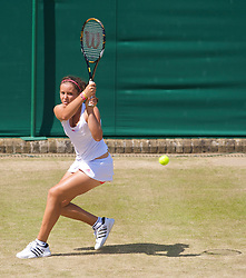 LONDON, ENGLAND - Wednesday, July 1, 2009: Laura Robson (GBR) during the Girls' Singles 3rd Round match on day nine of the Wimbledon Lawn Tennis Championships at the All England Lawn Tennis and Croquet Club. (Pic by David Rawcliffe/Propaganda)