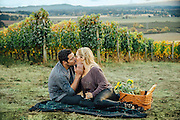 Monique & Jeff's Vineyard Engagement Portrait