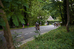 Natalie van Gogh and Alexis Ryan attack as the top of the GPM comes into view at Boels Rental Ladies Tour Stage 6 a 159.7 km road race staring and finishing in Sittard, Netherlands on September 3, 2017. (Photo by Sean Robinson/Velofocus)