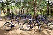 Some of the bicycles that have been provided by Cadburys at the Mbaem community school, Ghana.