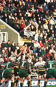 Zurich Premiership Rugby - London Irish v Wasps. Lawrence Dallaglio collects from the line out, during the game at the Madejski Stadium, Reading, Berks, Great Britain. [Mandatory Credit: Peter Spurrier; Intersport Images].