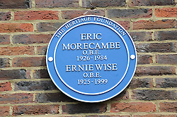 © Licensed to London News Pictures. 19/05/2013.Morecambe and Wise Plaque unveiling..Teddington Studios London  Plaque unveiling to Eric Morecambe and Ernie Wise (19.05.2013)..Photo credit :Grant Falvey/LNP