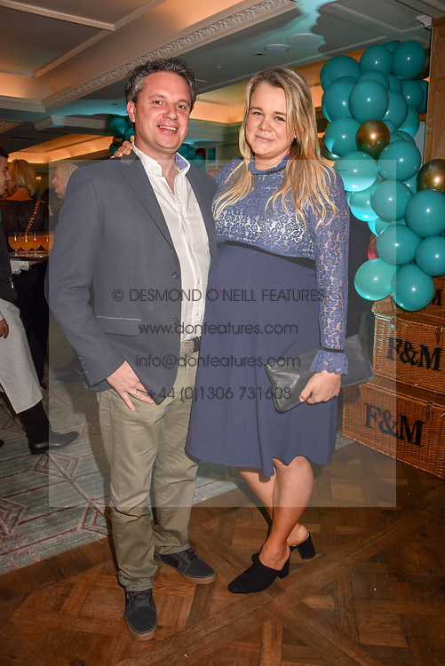 Sophie Michel and Owen Clarke at the launch of the Fortnum & Mason Christmas & Other Winter Feasts Cook Book by Tom Parker Bowles held at Fortnum & Mason, 181 Piccadilly, London, England. 17 October 2018.