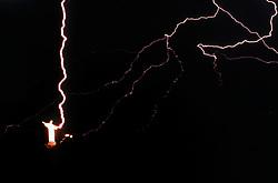 Rio de Janeiro, RJ, Brasil  Mar/1993.Cristo Redentor com raio na mao./ Christ the Redeemer with Ray Light in His hand..Foto Marcos Issa/Argosfoto