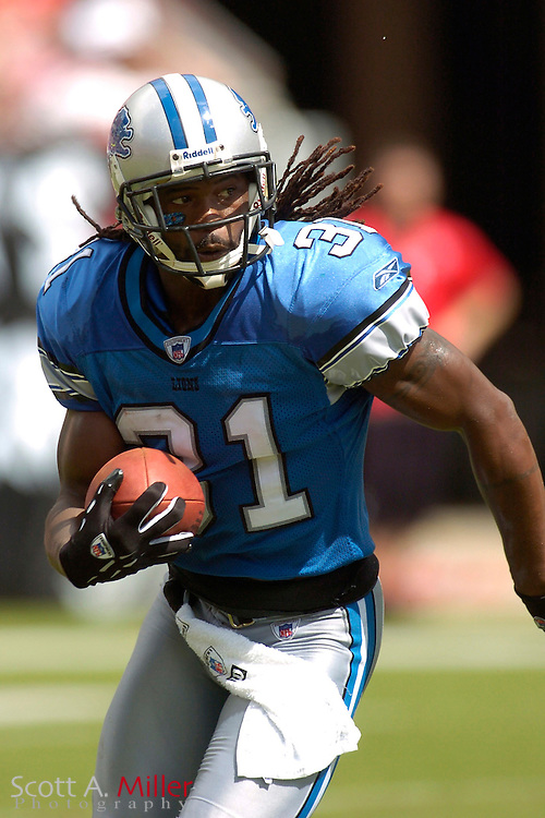 Detroit Lions defender R.W. McQuarters (31) during the Lions game against the Tampa Bay Buccaneers at Raymond James Stadium on Oct. 2, 2005 in Tampa, Florida. ..         ©2005 Scott A. Miller..©2005 Scott A. Miller