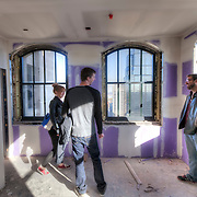 Interior during renovation of Power and Light Building historic skyscraper in downtown Kansas City, as the various floors are prepared for conversion to residential apartments.