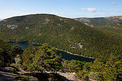 Aerial view of Bubble Pond, Acadia National Park, Maine, United States of America