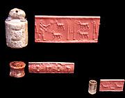 Cylinder seals from messopotamia, Uruk 3300-3000 BC