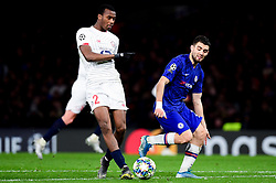 Mateo Kovacic of Chelsea challenges Tiago Djalo of Lille - Mandatory by-line: Ryan Hiscott/JMP - 10/12/2019 - FOOTBALL - Stamford Bridge - London, England - Chelsea v Lille - UEFA Champions League group stage