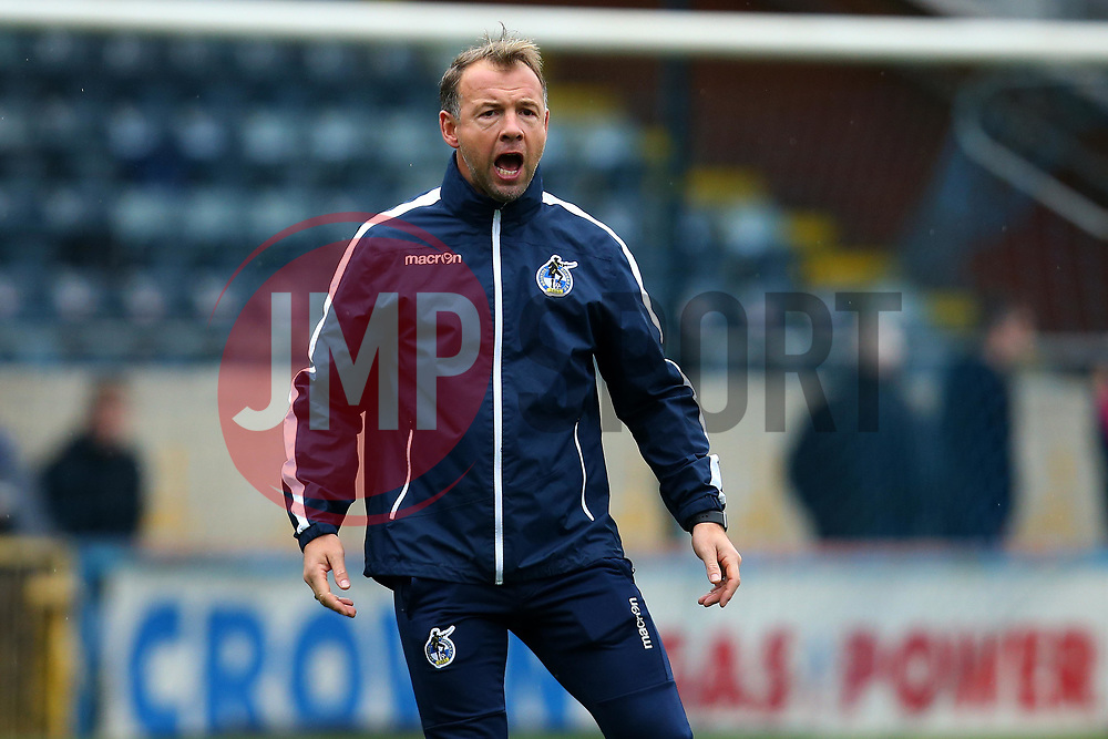 Bristol Rovers assistant manager Marcus Stewart - Mandatory by-line: Robbie Stephenson/JMP - 21/10/2017 - FOOTBALL - Crown Oil Arena - Rochdale, England - Rochdale v Bristol Rovers - Sky Bet League One