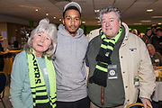 Players sponsorship Forest Green Rovers Keanu Marsh-Brown(7) during the EFL Sky Bet League 2 match between Forest Green Rovers and Crawley Town at the New Lawn, Forest Green, United Kingdom on 24 February 2018. Picture by Shane Healey.