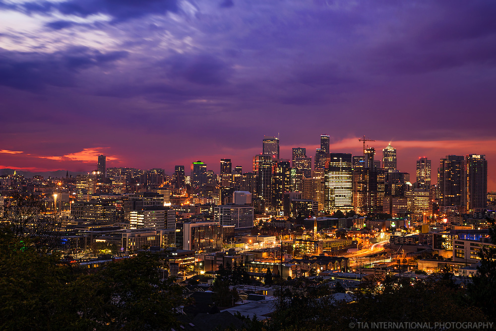 Seattle Skyline, Autumn Dusk