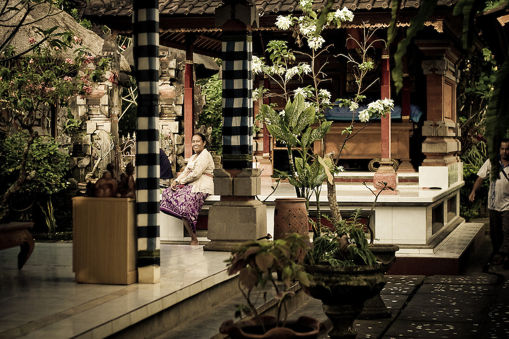 A Balinese woman waits to see Ketut Liyer, the medicine man of Eat, Pray, Love fame, in Ubud, Bali, Indonesia.