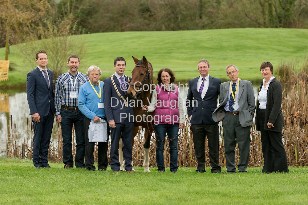 7-11-14<br /> <br /> Repro Fre No Charge for Repro<br /> <br /> SPECIALIST EQUINE VETS CONVENE IN KILKENNY FOR SCIENTIFIC CONFERENCE<br />  <br /> Horses have been an important part of Ireland&rsquo;s social and economic fabric for centuries and they support thousands of jobs across the country, both directly and indirectly, including throughout rural Ireland. <br />  <br /> The point was highlighted at the Irish Equine Veterinary Conference hosted by Veterinary Ireland and taking place at Lyrath Estate, Kilkenny.  Opened by the Mayor of Kilkenny, Cllr. Andrew McGuinness, it featured international, national and local speakers.   The main conference on Friday 7th and Saturday 8th November 2014; was preceeded by a &lsquo;wetlab&rsquo; on the afternoon of Thursday 6th November at the superb facilities in Ballylinch Stud in Thomastown, Co. Kilkenny.   Don Collins, Chair of the Veterinary Ireland Equine Group, said that annual conference offers a variety of diverse practical workshops and scientific presentations to help specialist equine vets to upskill and continue to provide up to date and state of the art clinical advice to their clients in this important sector.<br />  <br /> Dr. Vivienne Duggan, President of Veterinary Ireland called for private veterinary practitioners to be granted access to the central database for horses - including information about the person responsible for the horse and the status of the horse with regard to food production.    &ldquo;This will allow veterinary practitioners to ensure that they are using the most appropriate medicines both for optimum clinical effect and in line with the current legislation in equine veterinary work, which will become increasingly important as the equine sector continues to recover economically and to support its positive expansion in the future.&rdquo; said Dr. Duggan.<br />  <br /> Pictured at the Veterinary Ireland equine conference were: Dave Stack; Jurgen Bodamer; John Newcombe; Mayor of Kilkenny Cllr Andrew McGuinness; Catherine Dwan; Don Collins; Jim Schumacher and Rosalinda Devereux.<br /> <br /> <br /> <br /> <br /> P