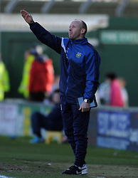 Yeovil Town's Coach Darren Way  - Photo mandatory by-line: Harry Trump/JMP - Mobile: 07966 386802 - 21/02/15 - SPORT - Football - Sky Bet League One - Yeovil Town v Gillingham - Huish Park, Yeovil, England.