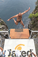Rublev Andrey<br /> <br /> 32&deg; Marmeeting - Mediterranean Cup - High Diving Competition<br /> Tuffi Grandi Altezze<br /> Fiordo di Furore - Furore Fiord Furore Costiera Amalfitana (SA)<br /> Foto &copy; elenistique/deepbluemedia<br /> 20180901