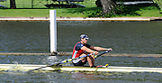 Henley, GREAT BRITAIN,  2012 Henley Royal Regatta. Graeme THOMAS, Agecroft Rowing Club, in his Semi-Final, of the Diamond Challenge Sculls. Saturday  10:27:16  30/06/2012 [Mandatory Credit, Intersport-images] ..Rowing Courses, Henley Reach, Henley, ENGLAND . HRR.
