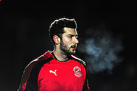 Fleetwood Town's Alex Gogic during the pre-match warm-up <br /> <br /> Photographer Chris Vaughan/CameraSport<br /> <br /> Football - The Football League Sky Bet League One - Rochdale v Fleetwood Town - Tuesday 23rd February 2016 - Scotland - Rochdale   <br /> <br /> © CameraSport - 43 Linden Ave. Countesthorpe. Leicester. England. LE8 5PG - Tel: +44 (0) 116 277 4147 - admin@camerasport.com - www.camerasport.com