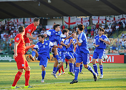John Stones of England (Everton) heads towards goal  - Mandatory byline: Joe Meredith/JMP - 07966386802 - 05/09/2015 - FOOTBALL- INTERNATIONAL - San Marino Stadium - Serravalle - San Marino v England - UEFA EURO Qualifers Group Stage